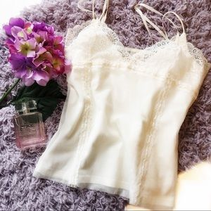 A&F Sheer Lace Cami with Matching Under-Cami M